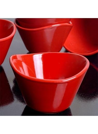 Keramika Keramika 11 cm 6 Adet Bayrak Tigela Çerezlik/Sosluk Renkli